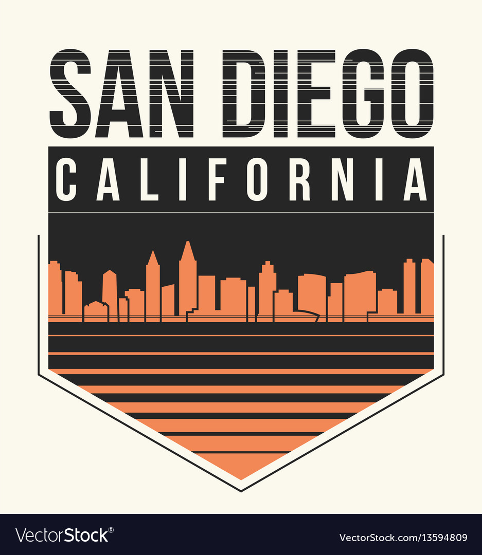 San diego graphic t-shirt design tee print