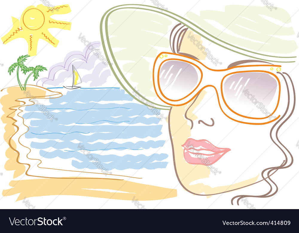 Woman sunglasses vector image