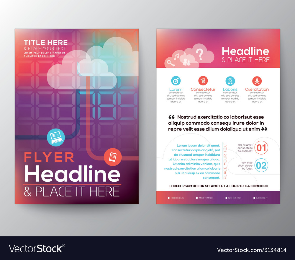 Abstract Brochure Flyer design Layout template