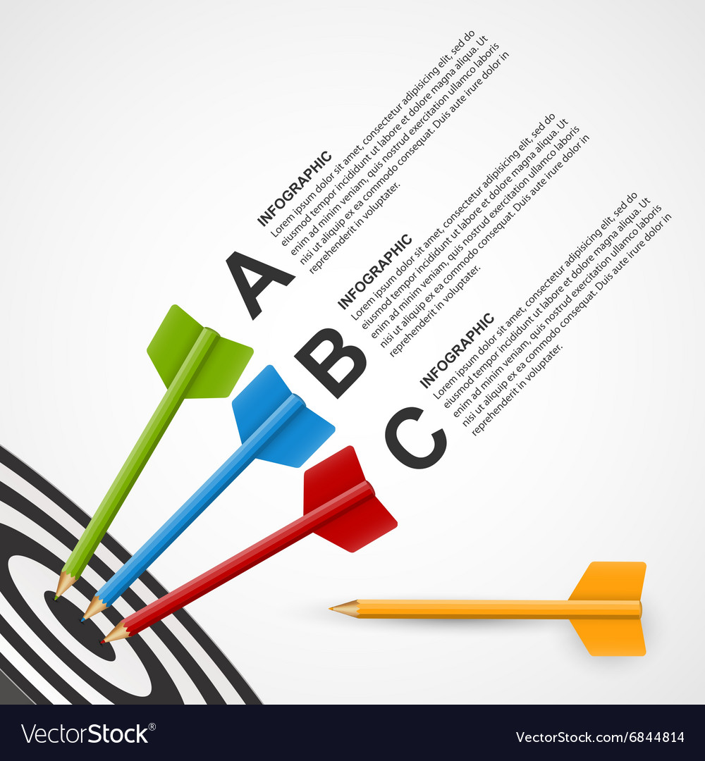 Abstract education infographic template target