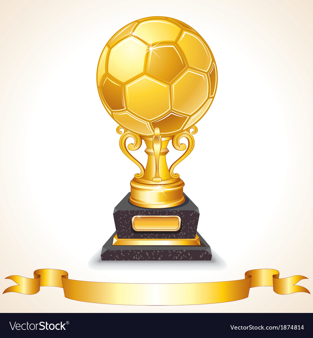 Abstract Golden Soccer Trophy
