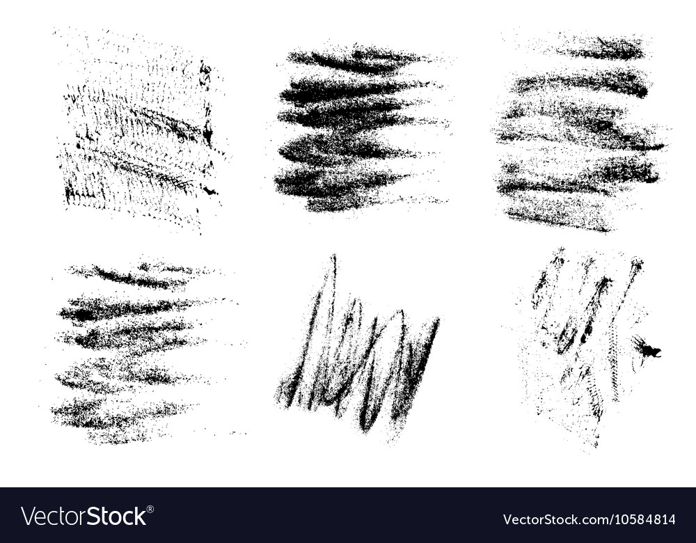 Black crayons hand drawing abstract white