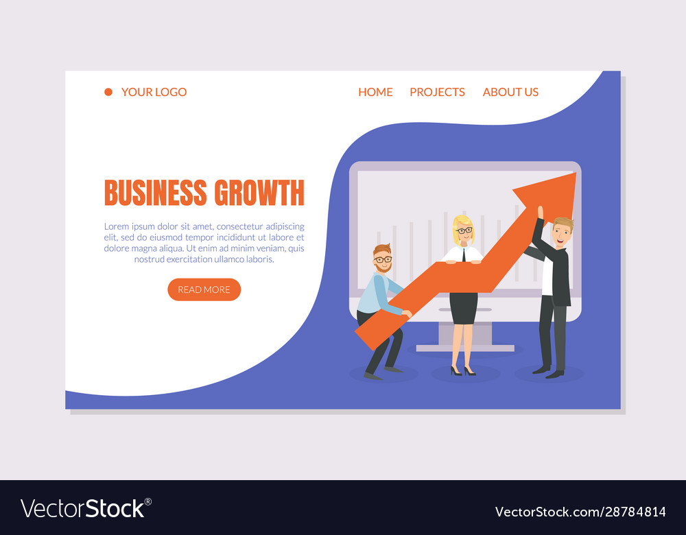 Business growth landing page template business