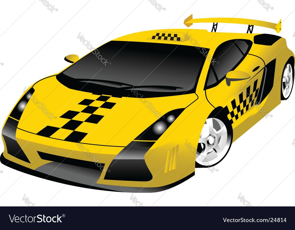 Fantastic Taxi Royalty Free Vector Image Vectorstock