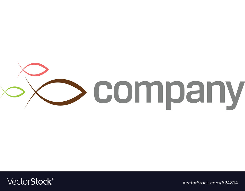 Ichthus symbol logo vector image