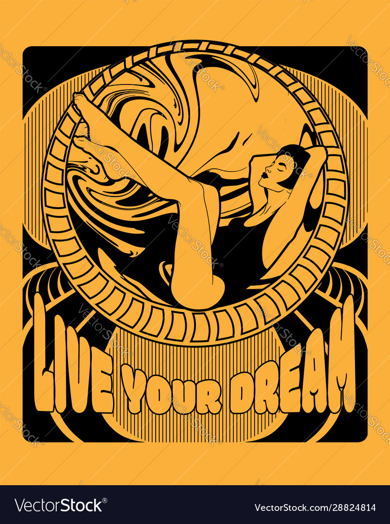 Live your dream hand drawn of