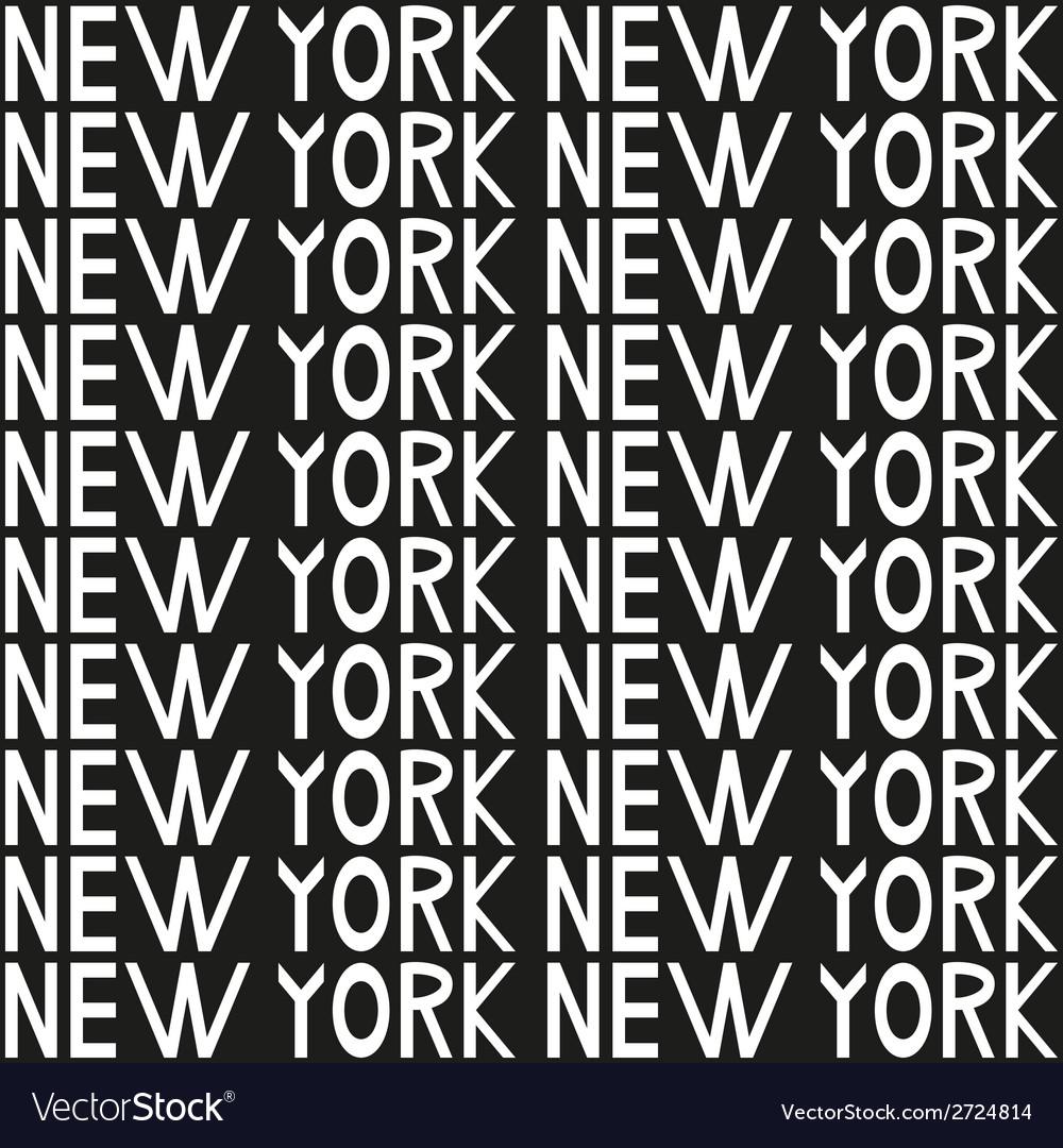New York typography seamless background pattern