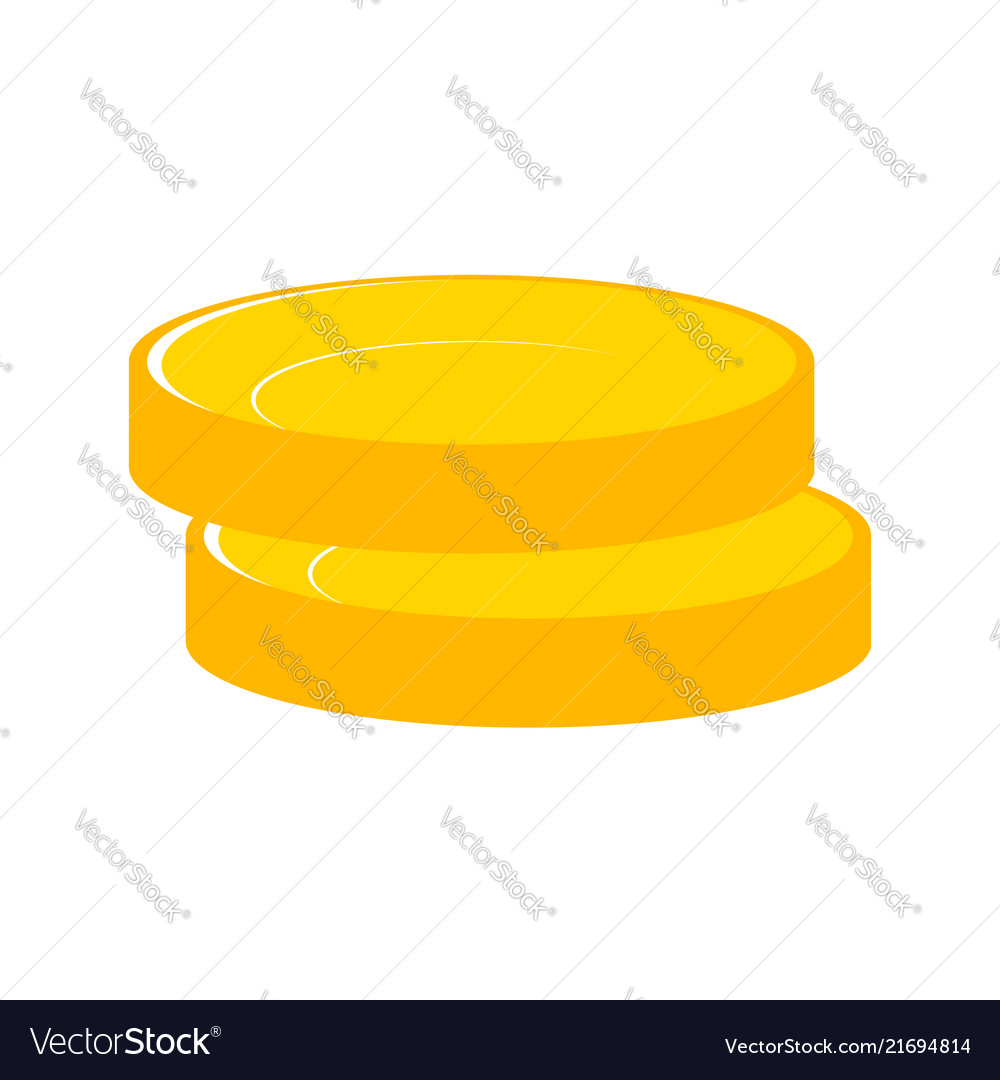 Stacks gold money coins income money coins and