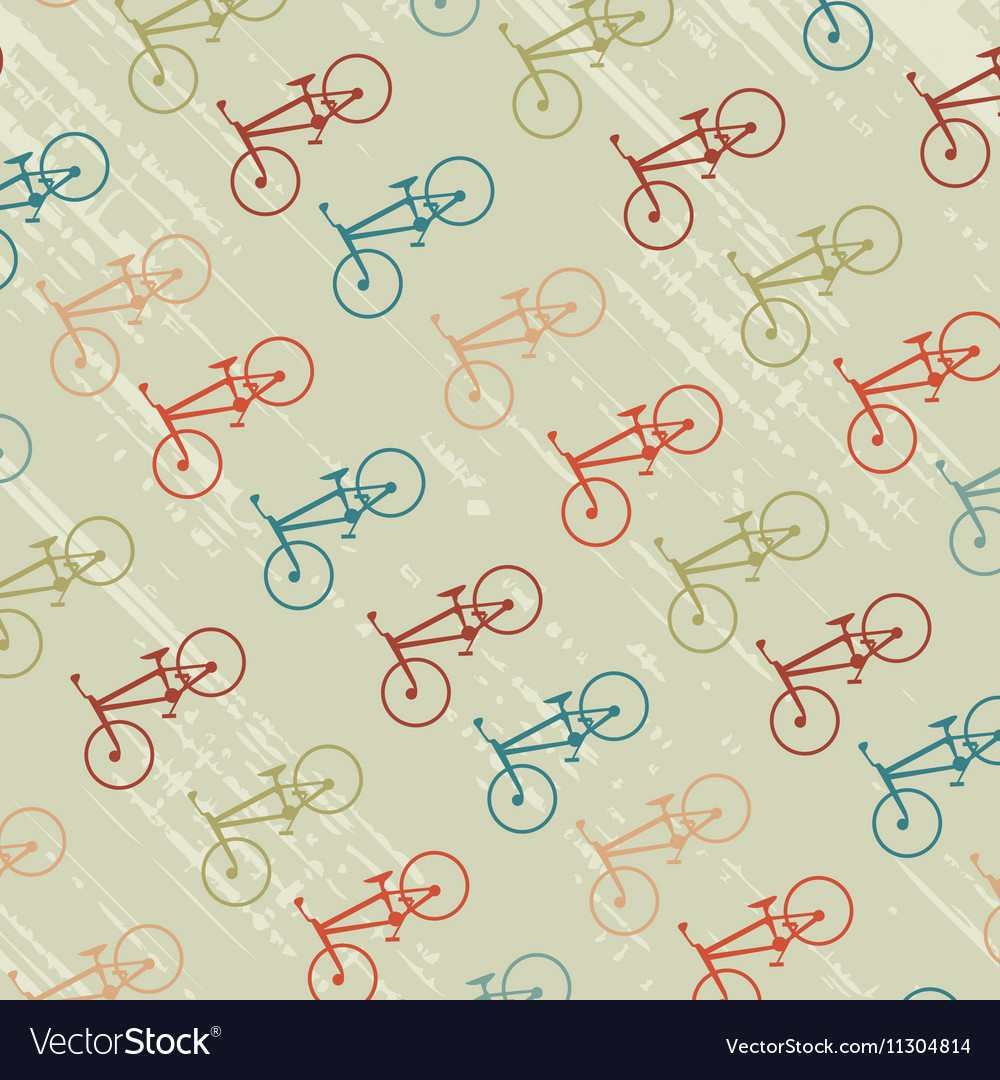 Vintage background with bicycles silhouettes