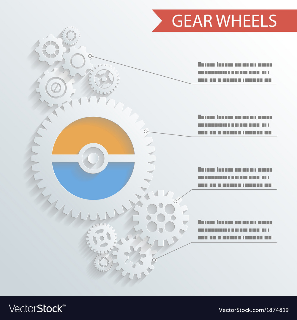 Abstract Gear Wheels Infographics Background