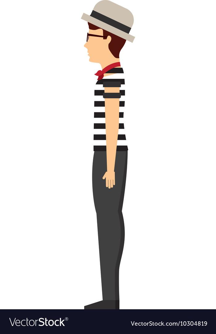 Gondolier avatar isolated icon