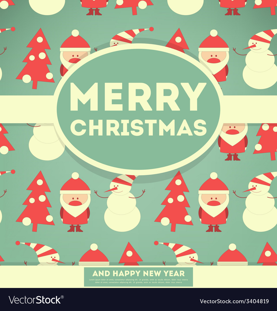 Merry Christmas and New Years Card
