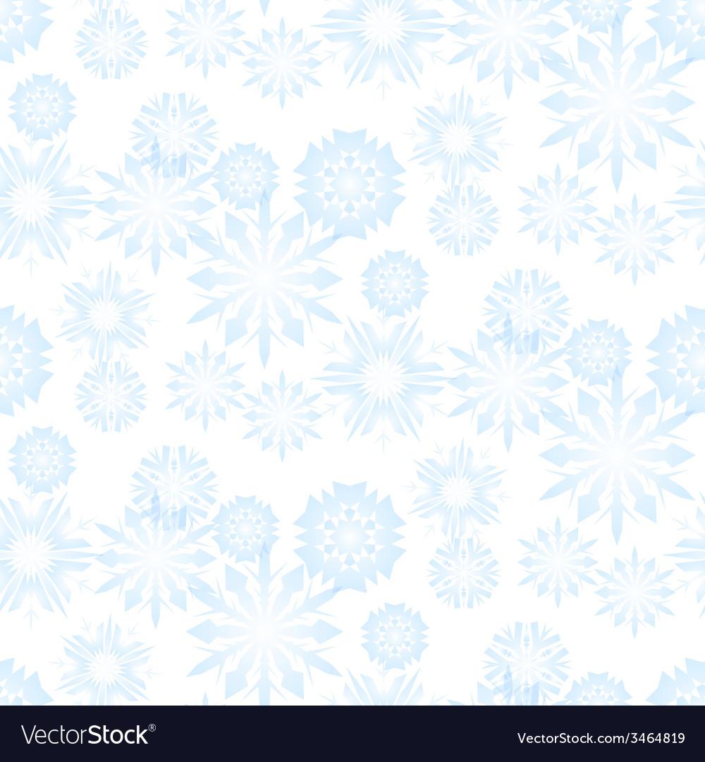 Seamless snowflake pattern for christmas