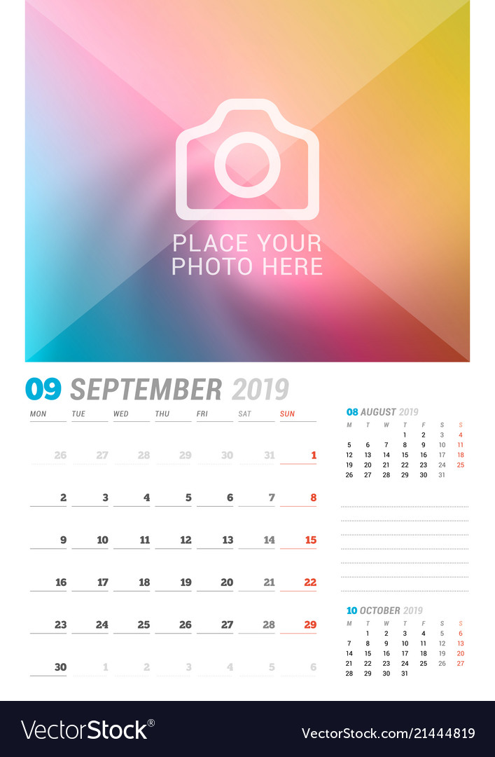 Calendar Planner September 2019.September 2019 Wall Calendar Planner Template