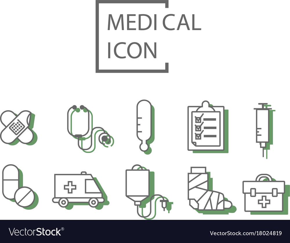 Simple medical set
