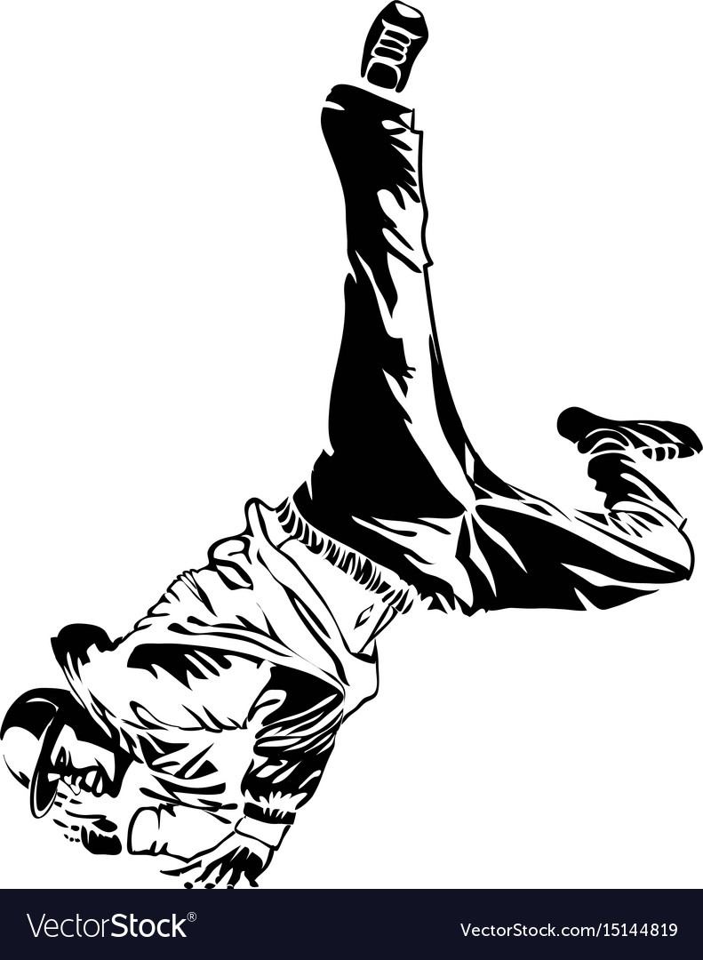 Street dancer on white background extreme theme vector image