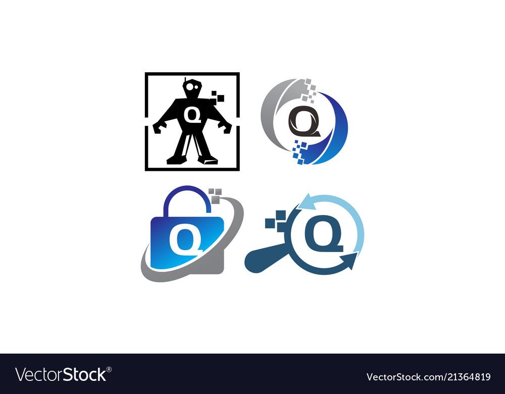 Technology application q template set
