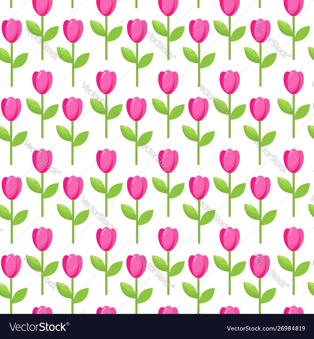 Tulip pink pattern