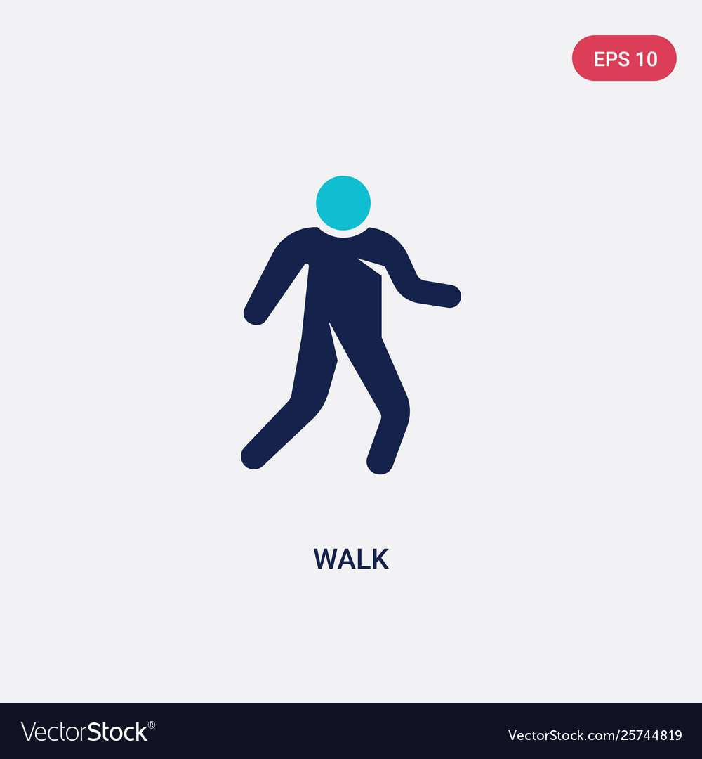 two color walk icon from humans concept isolated vector image vectorstock