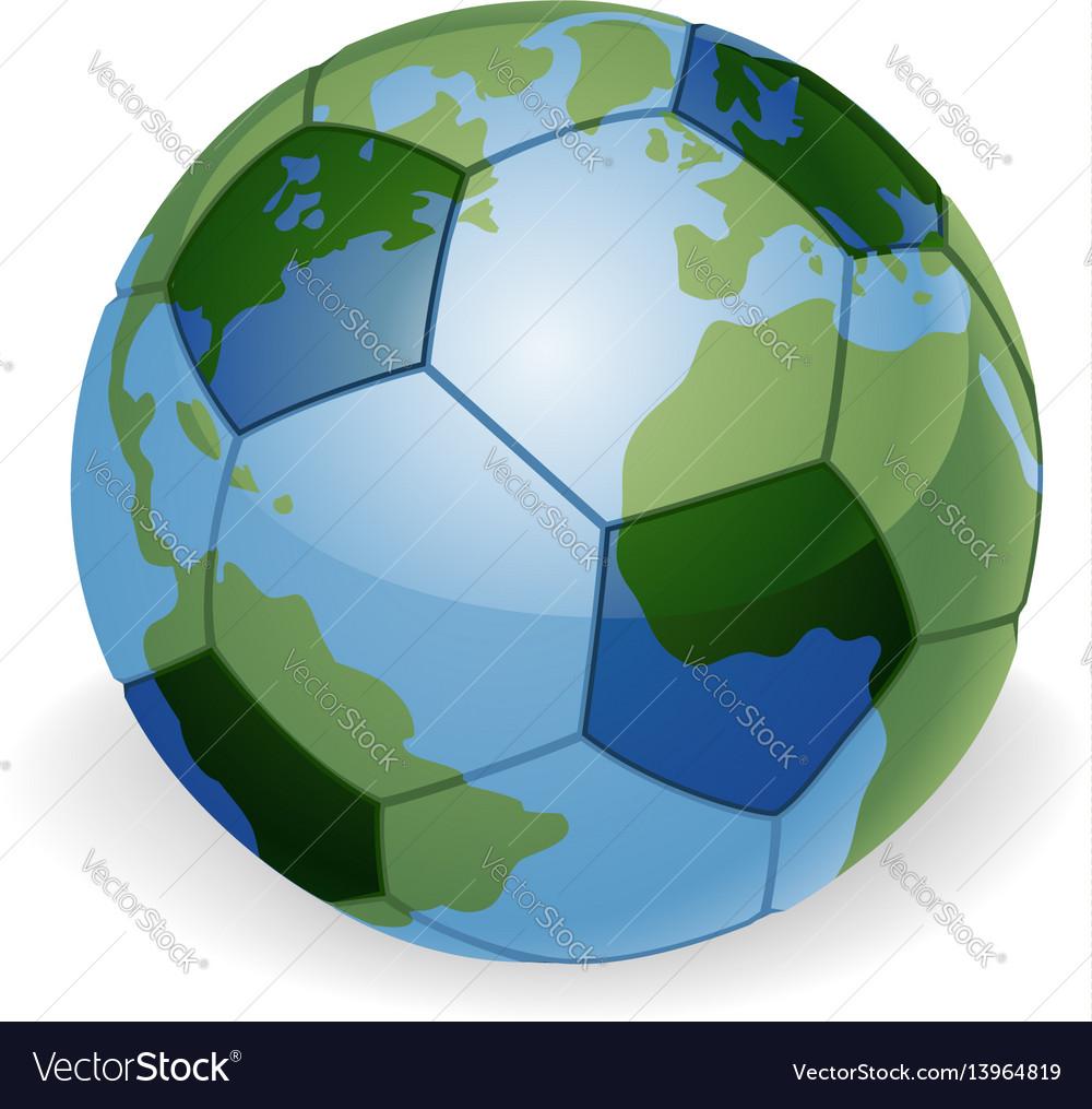 World globe soccer ball concept