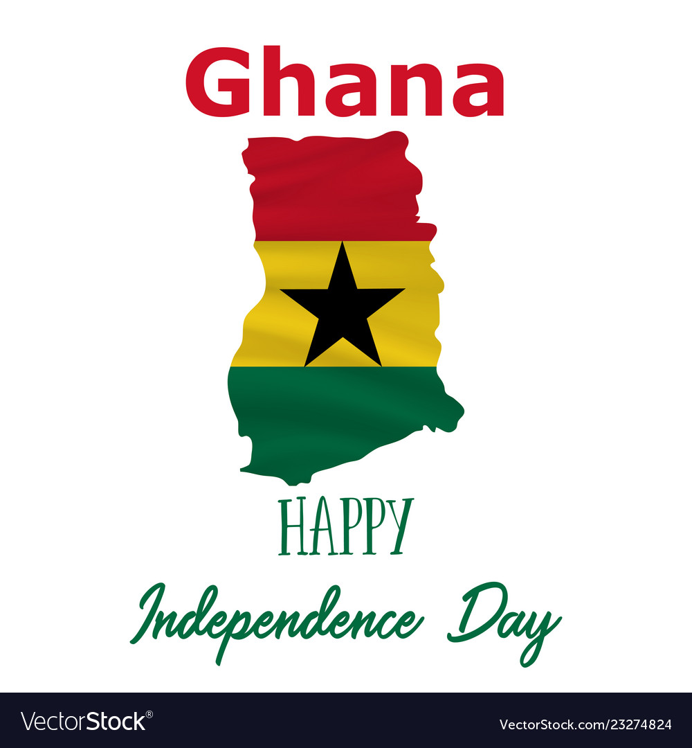 Independence Day.6 March Ghana Independence Day Background Vector Image