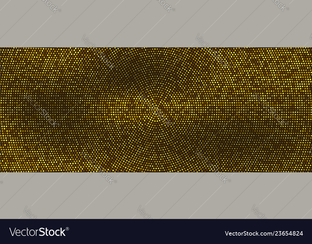 Abstract dotted background with radial yellow
