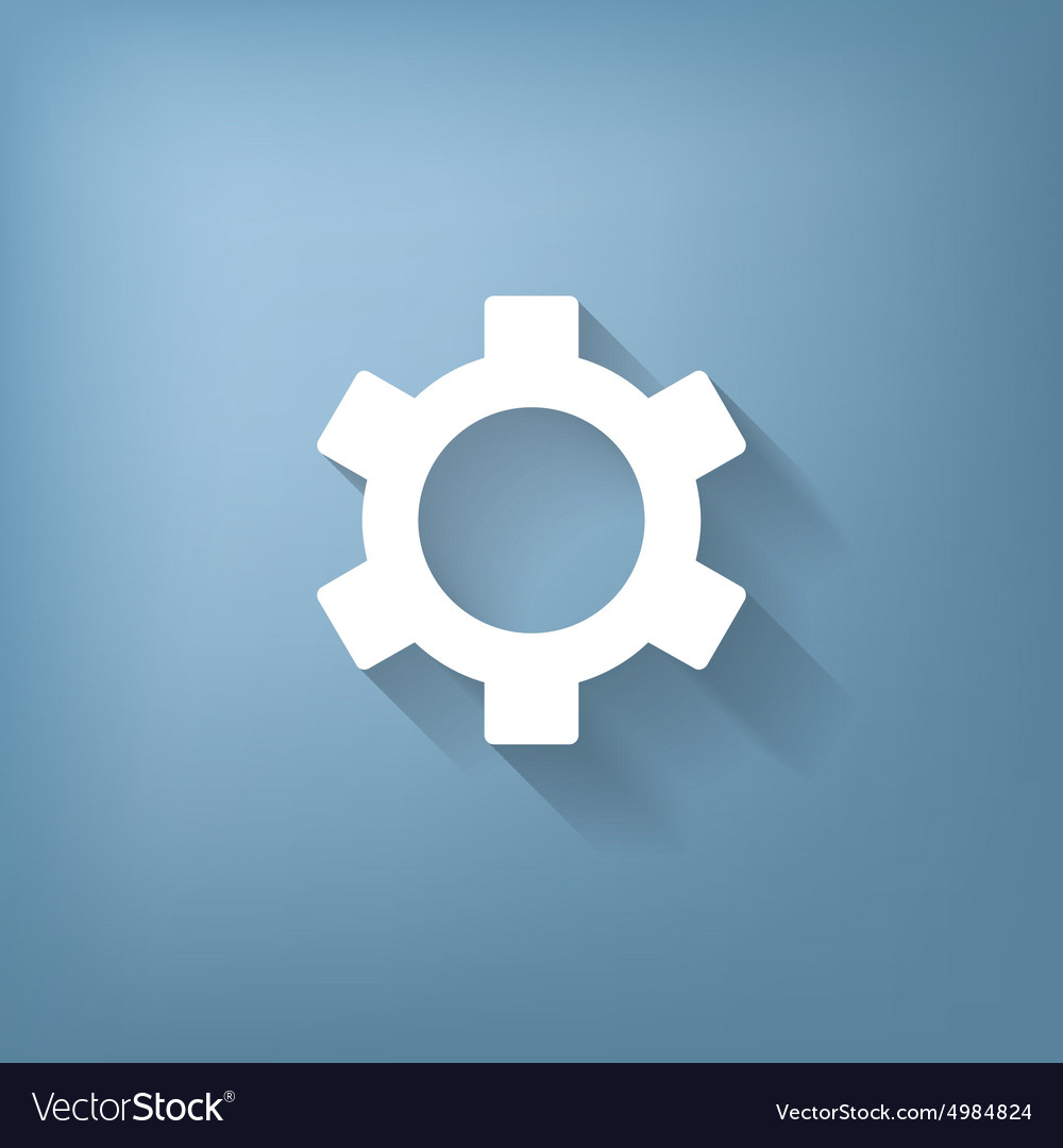 Cogwheel icon setting and repair symbol settings