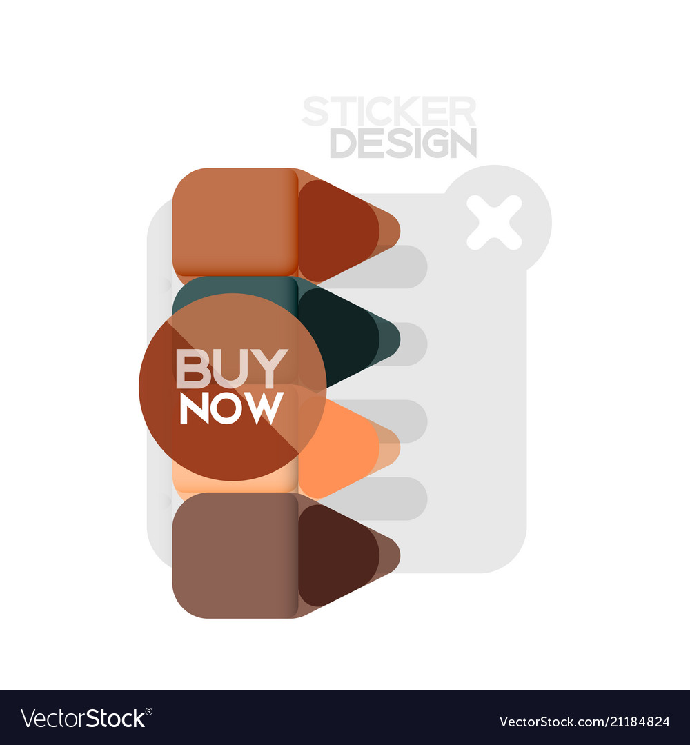 Flat design triangle arrow shape geometric sticker