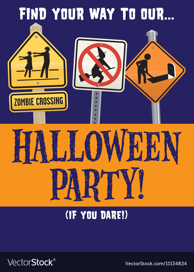 Halloween Party Template Royalty Free Vector Image