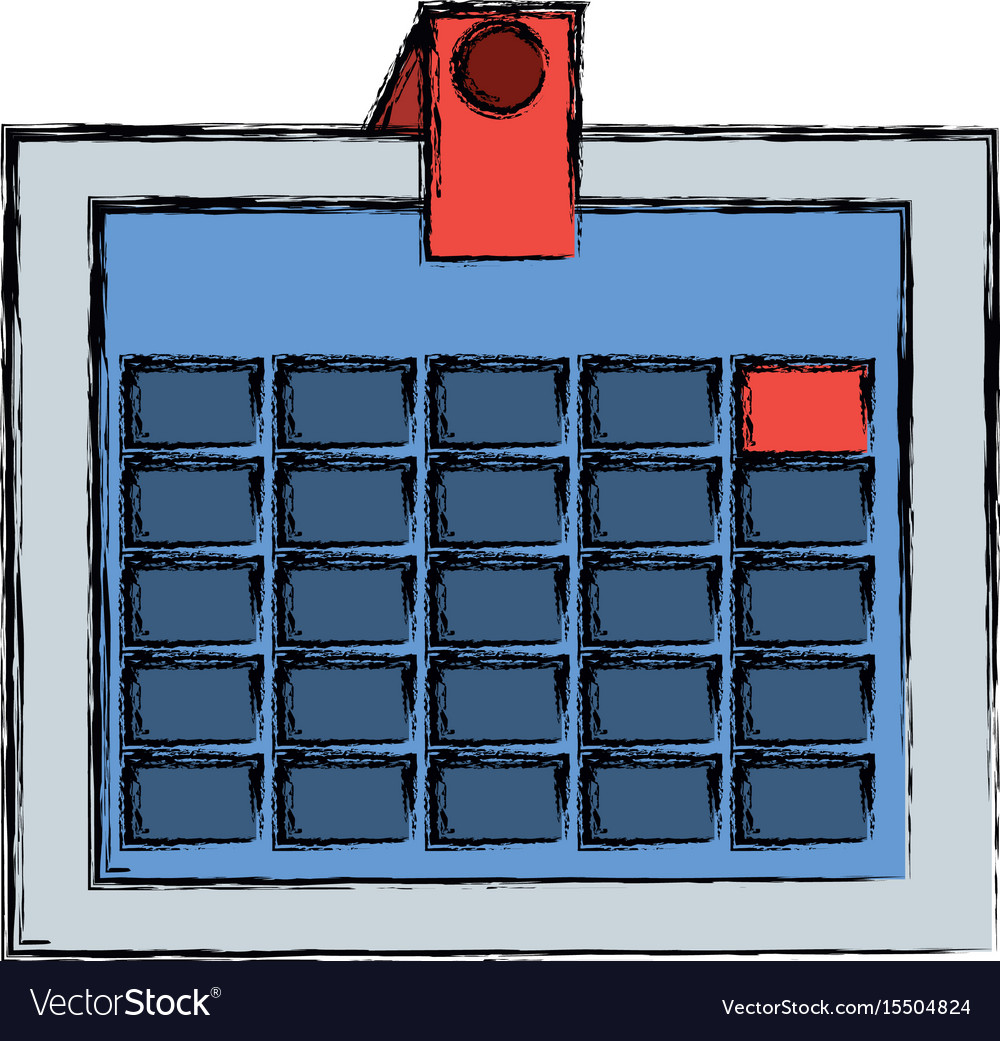 Isolated office calendar vector image