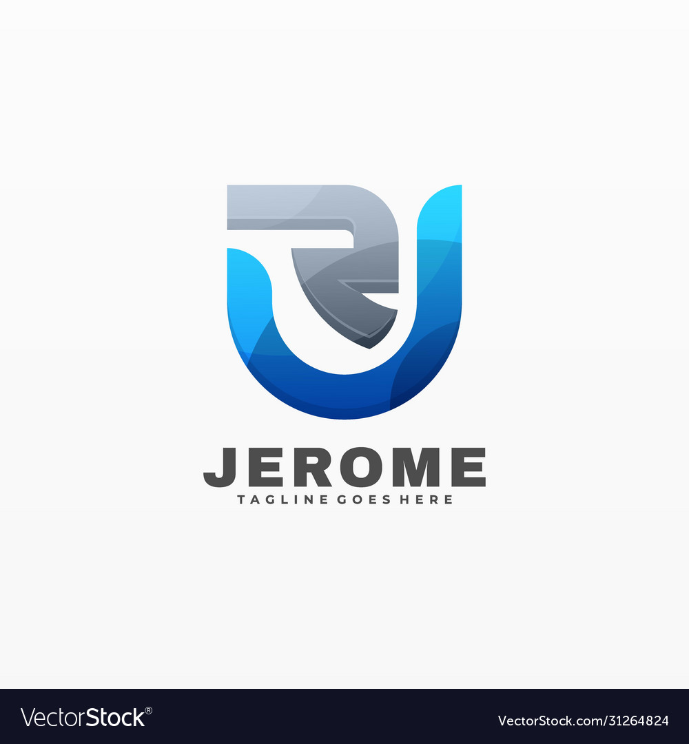 Logo jerome gradient colorful style