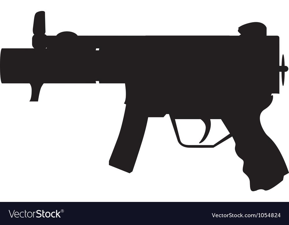 Military Uzi vector image