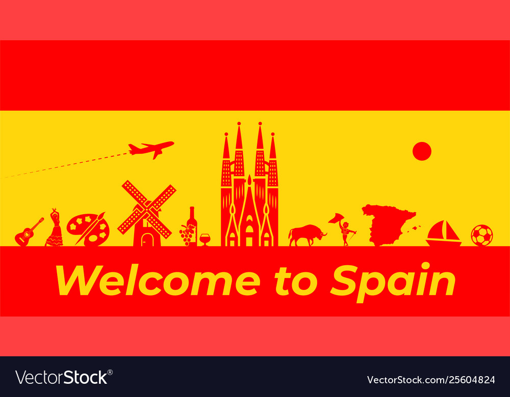 Spain background design spanish traditional