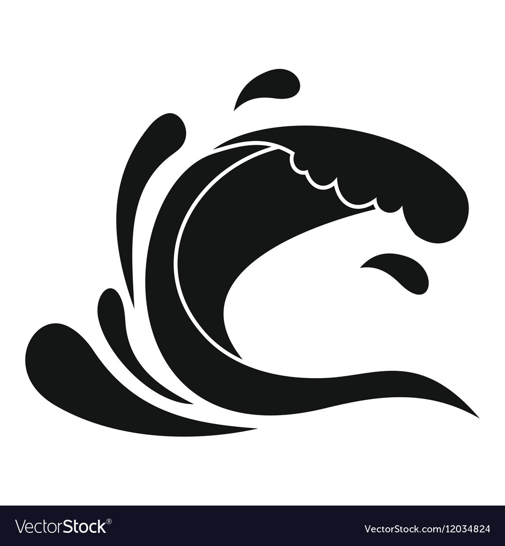Water wave splash icon simple style vector image