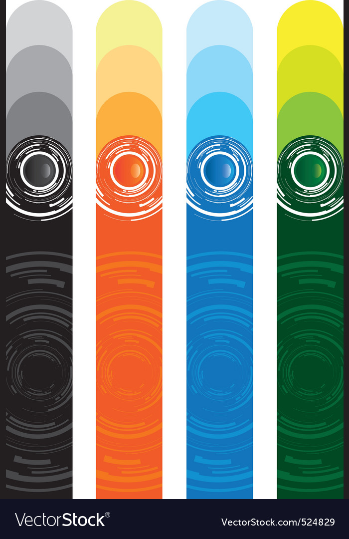 Abstract button banners vector image