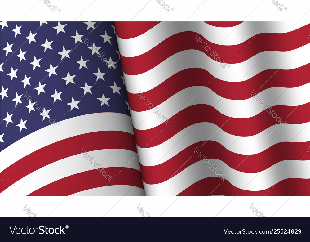America flag background collection waving design