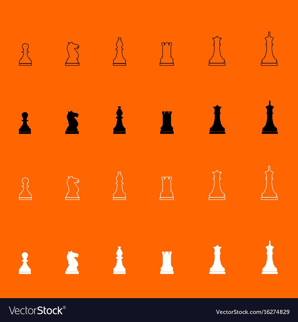 Chess pieces icon vector image