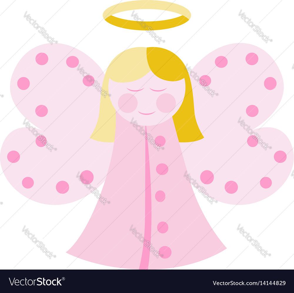 Cute angel in pink