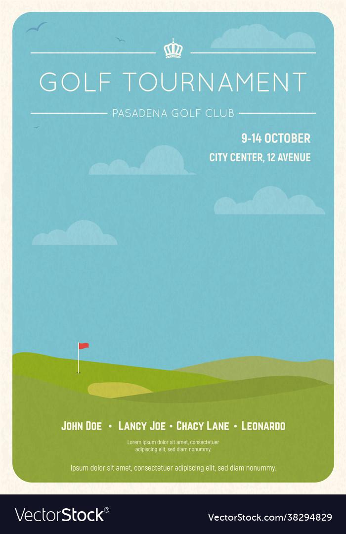 Golf tournament invite poster