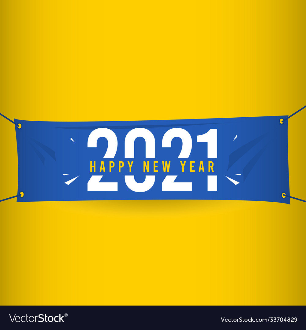 Happy New Year 2021 Template Design Royalty Free Vector