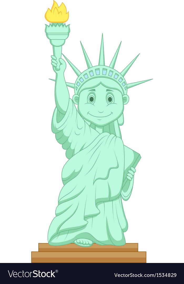 Liberty statue cartoon vector image