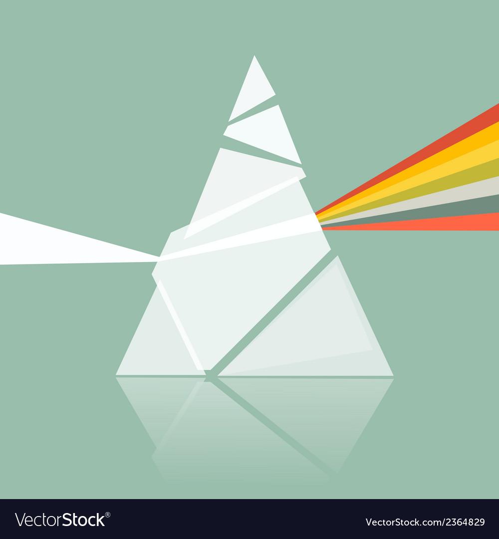 Prism Spectrum on Retro Background