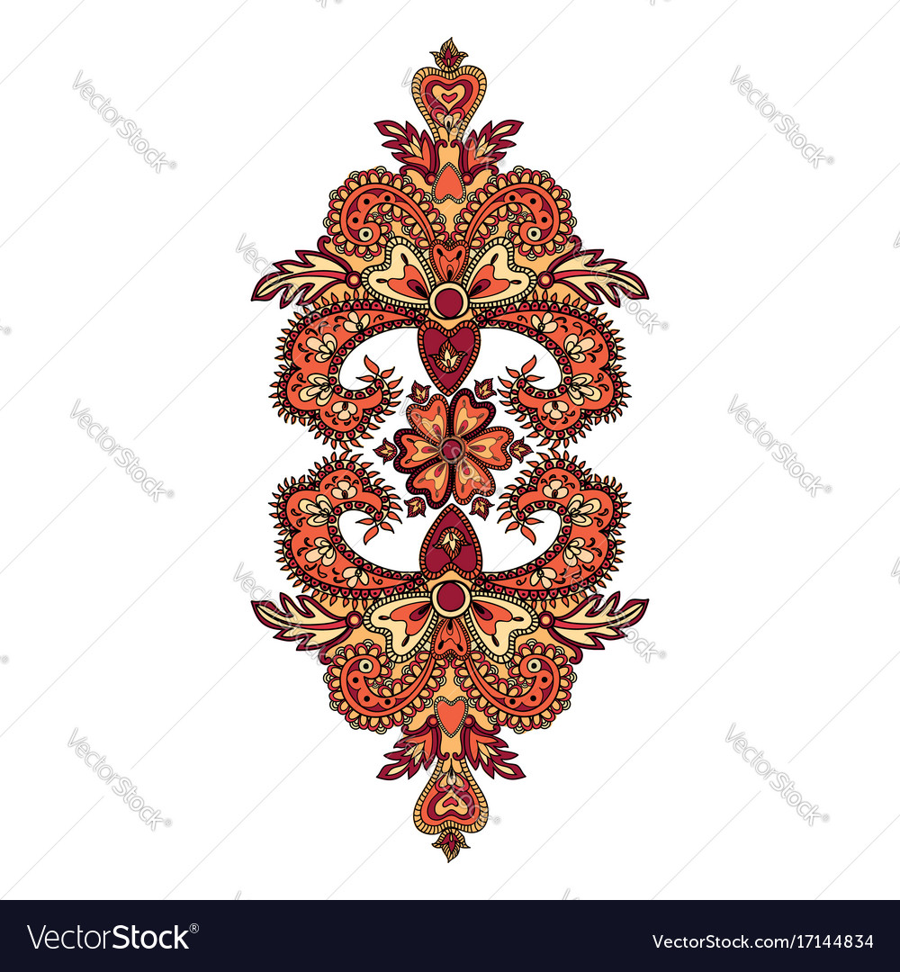 Arabic flower ornament floral background abstact