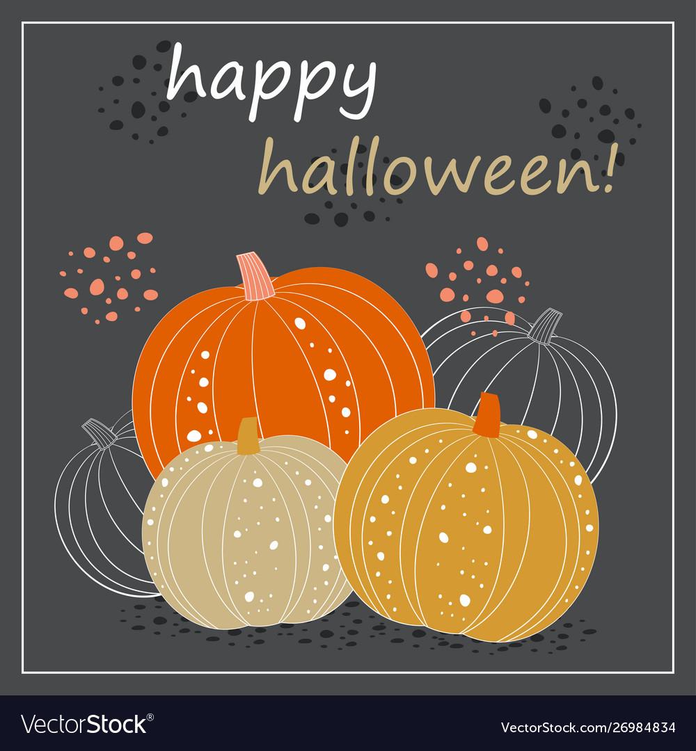 Cute halloween pumpkin card