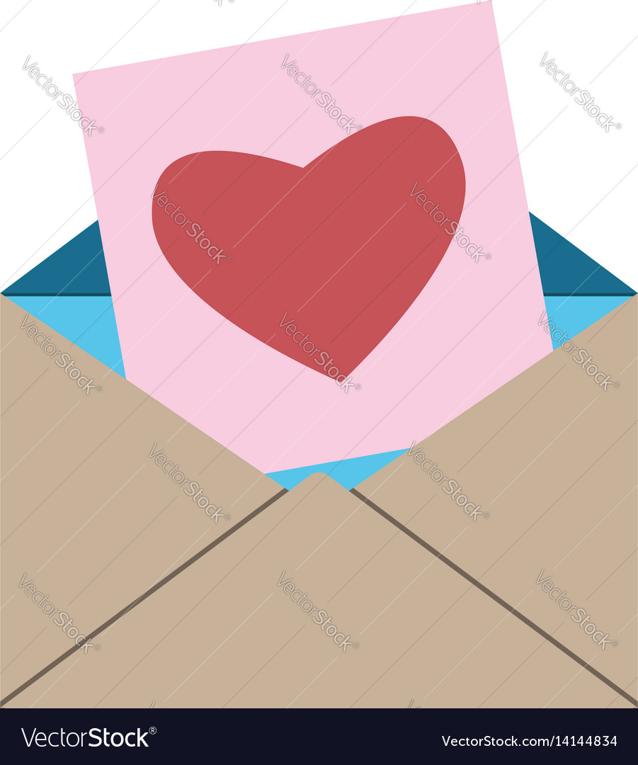 Envelope card with heart