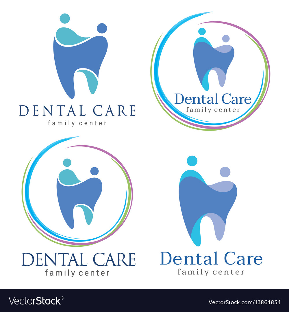 family dental logos royalty free vector image vectorstock