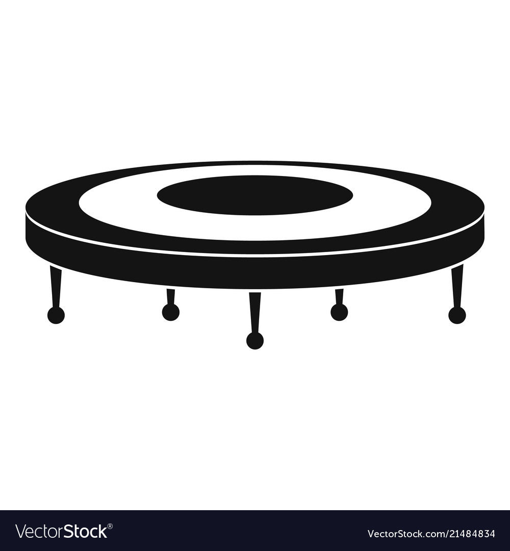Jump trampoline icon simple style