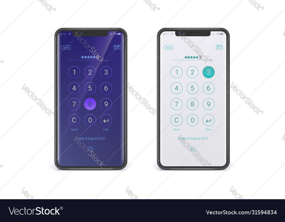 Smartphones with digital dial ui screen