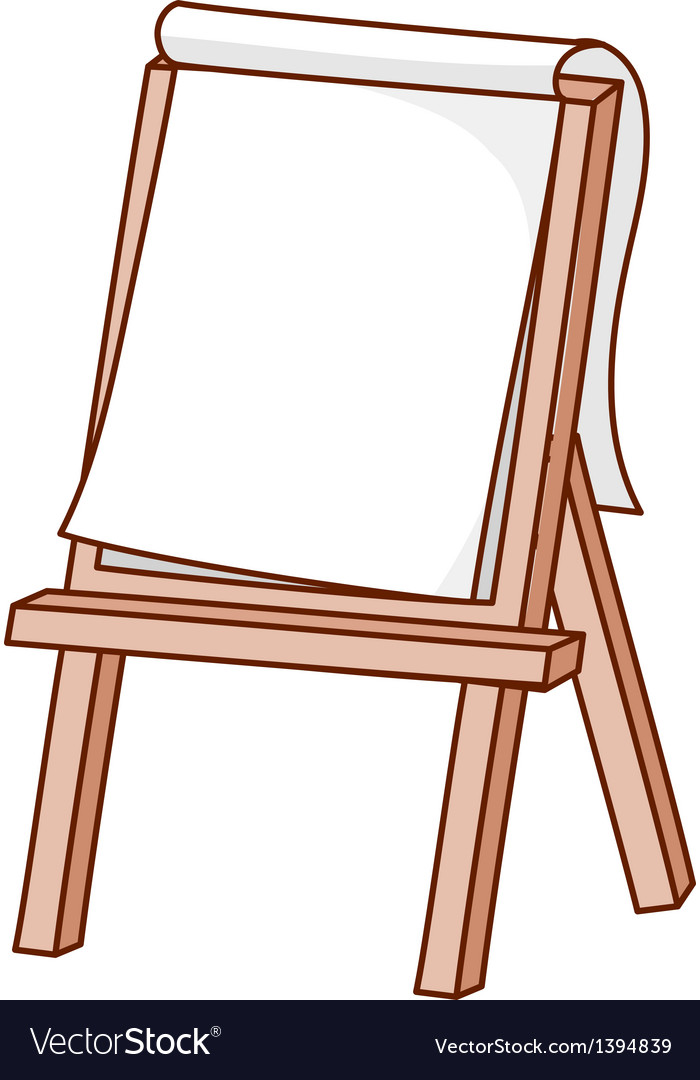 an easel stand on royalty free vector image vectorstock