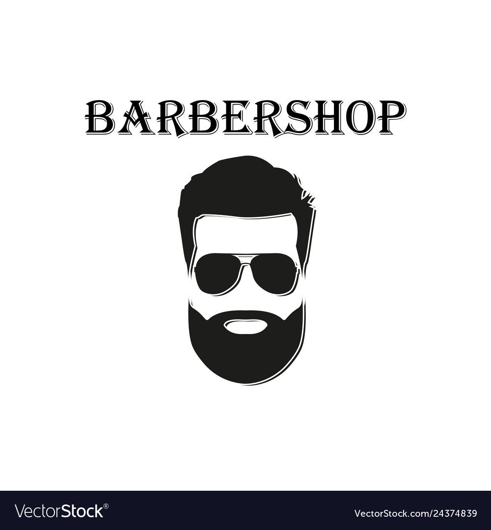 Barber logo on a white background in flat style
